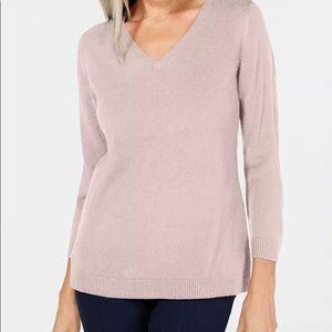 NWT Karen Scott V-Neck Sweater